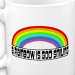 A Rainbow is God Smiling Mug Omniverz.com