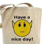 Star Trek Smilie Canvas Shopping Bag